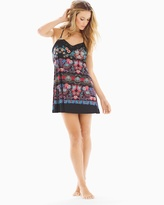 Soma Intimates Meander Sleep Chemise Sapphire Red Multi