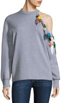 Christopher Kane Cold Shoulder Sweatshirt