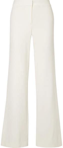 Theory Stretch-crepe Wide-leg Pants - White