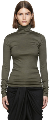 Isabel Marant Green Fine Wool Doyela Turtleneck