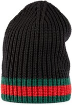 Thumbnail for your product : Gucci Wool hat with Web