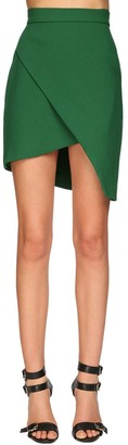 Elie Saab Asymmetrical Crepe Mini Skirt
