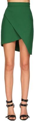 Elie Saab Asymmetrical Crepe Mini Skirt