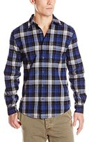 Ben Sherman Men's Long Sleeve Brushed Clip Tartan Woven