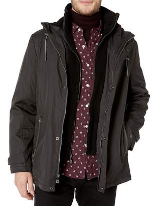 Kenneth Cole Reaction Men's Bonded Midweight Jacket with Fleece Bib