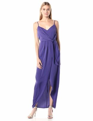 BCBGeneration Women's Evening TIE WRAP Woven Maxi Dresss