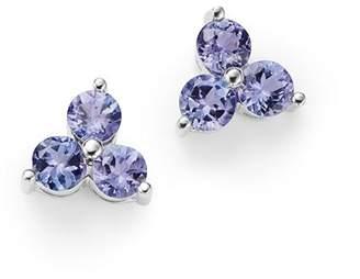 Bloomingdale's Tanzanite Three Stone Stud Earrings in 14K White Gold - 100% Exclusive