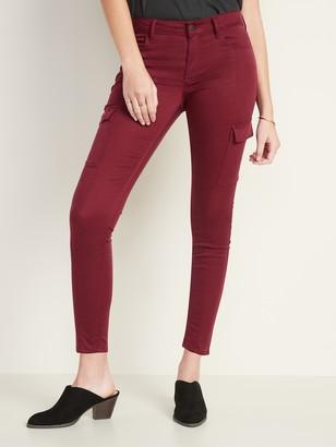 Old Navy Mid-Rise Sateen Rockstar Super Skinny Cargo Pants for Women