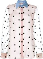 Natasha Zinko Net Polka-Dot Shirt