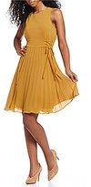 Lucy Paris Sleeveless Pleated Dress