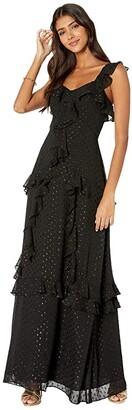 Lilly Pulitzer Riland Maxi Dress (Onyx Moroccan Metallic Clip) Women's Dress
