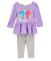 Children's Apparel Network Purple 'Shimmer & Shine' Dress & Pant Set - Toddler