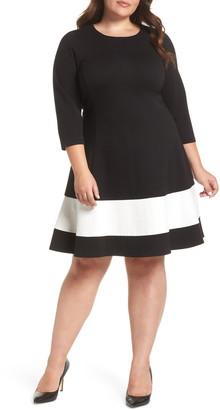 Eliza J Long Sleeve Fit & Flare