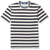 Junya Watanabe Striped Cotton-Blend Ponte De Roma T-Shirt