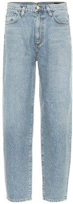 Gold Sign The Curved high-rise jeans