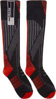 Prada Red and Black Logo Socks