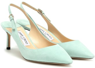 Jimmy Choo Exclusive to Mytheresa a Erin 60 suede slingback pumps