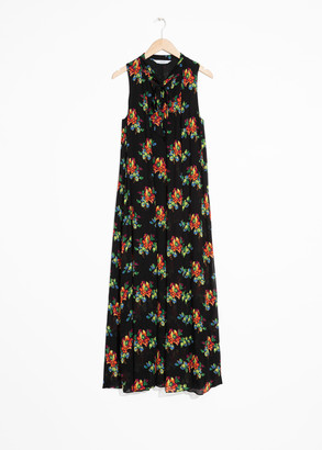 And other stories Pussy Bow Maxi Dress