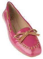 Isaac Mizrahi Live! Patent Leather Moccasins with Bow Detail