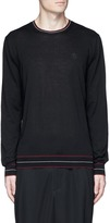 Alexander McQueen Skull patch cashmere sweater