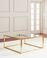 John-Richard Collection Winstar Brass and Glass Coffee Table