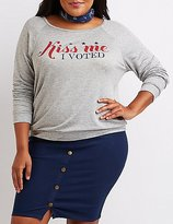 Charlotte Russe Plus Size Kiss Me I Voted Graphic Sweatshirt