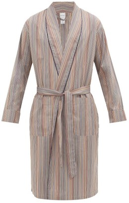 Paul Smith Signature Stripe Cotton-poplin Robe - Multi