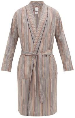 Paul Smith Signature Stripe Cotton-poplin Robe - Multi