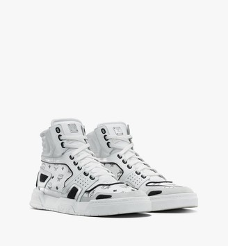 MCM Men's Skyward High-Top Sneakers in Visetos