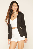Forever 21 FOREVER 21+ Zippered Open-Front Blazer