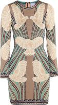 Herve Leger Jacquard-knit mini dress