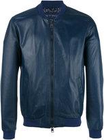 Etro zipped bomber jacket - men - Silk/Cupro/Sheep Skin/Shearling/Polyester - L