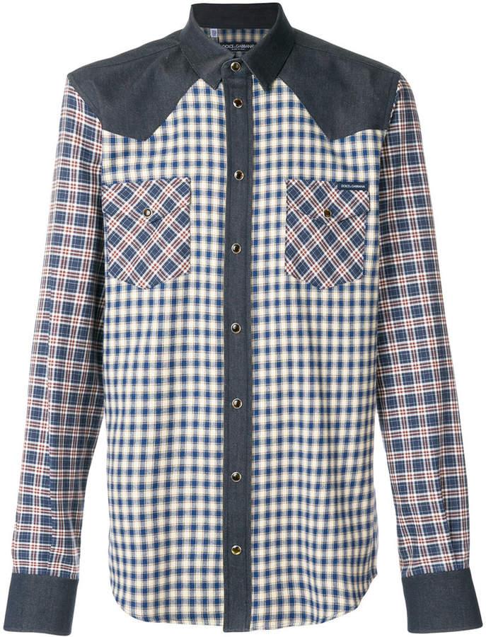 Dolce & Gabbana contrast checked shirt
