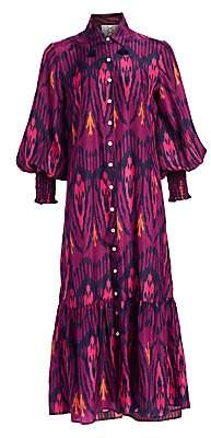 Figue Women's Indiana Ikat Midi Shirtdress