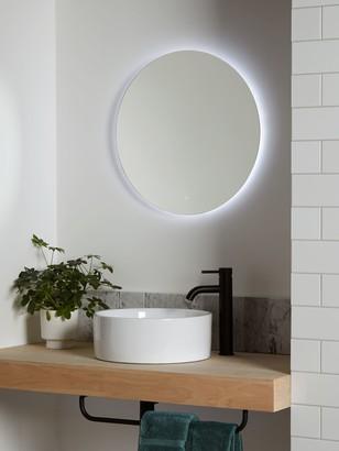 John Lewis & Partners Halo Wall Mounted Illuminated Bathroom Mirror, Large, Round