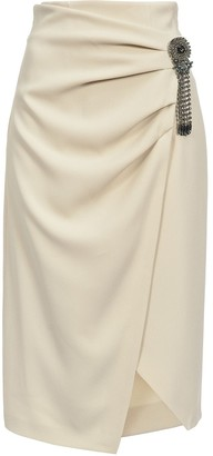 Pinko Midi-Length Skirt With Brooch