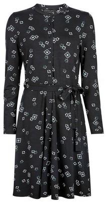 Dorothy Perkins Womens Black Geometric Print Jersey Shirt Dress, Black