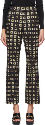Gucci Black Square G Flared Trousers