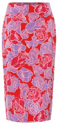 Diane von Furstenberg Exclusive to Mytheresa a Kara silk-blend pencil skirt