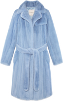 Pologeorgis The Baby Mink Trench Azure Fur Coat