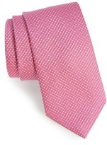 David Donahue Men's Solid Silk Tie