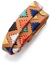 Tory Burch Raffia Double-Wrap Bracelet