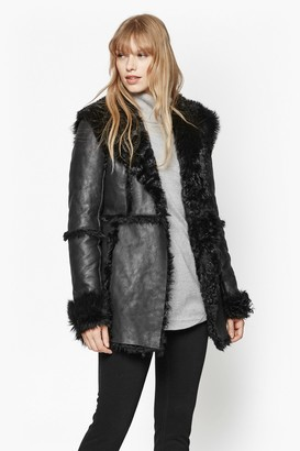 French Connection Winter Toscana Sheepskin Coat