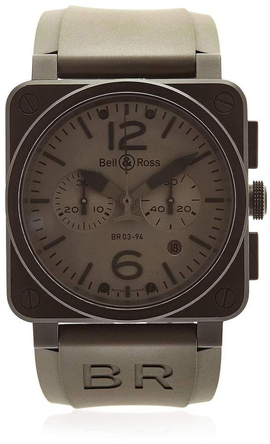 Bell & Ross Br 03-94 Chrono Pvd Steel Watch