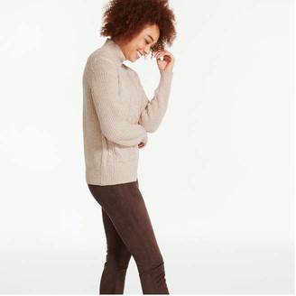 Joe Fresh Women's Turtleneck Sweater, Light Black Mix (Size XS)
