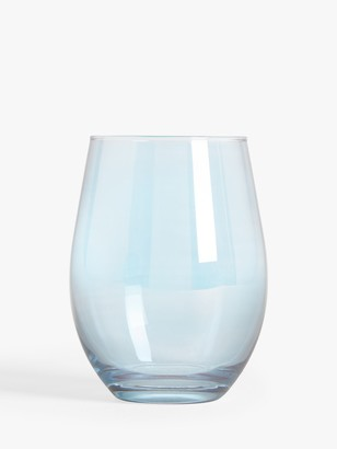 John Lewis & Partners Lustre Highball Glass, 490ml, Blue