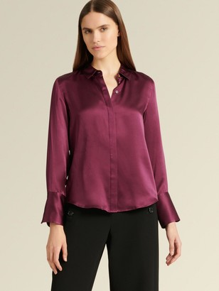 DKNY Long Sleeve Button Up Blouse