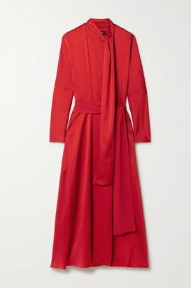 Sies Marjan Bea Crepe Wrap Dress - Red
