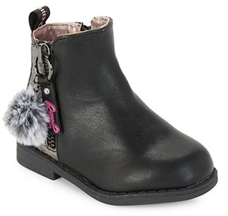Juicy Couture Kid's Faux Fur Pom-Pom Booties