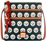 Dooney & Bourke Steelers Triple Zip Crossbody Bag